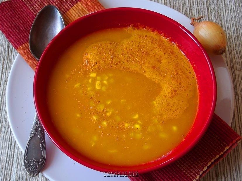Овочевий суп-пюре з гарбуза і кукурудзи