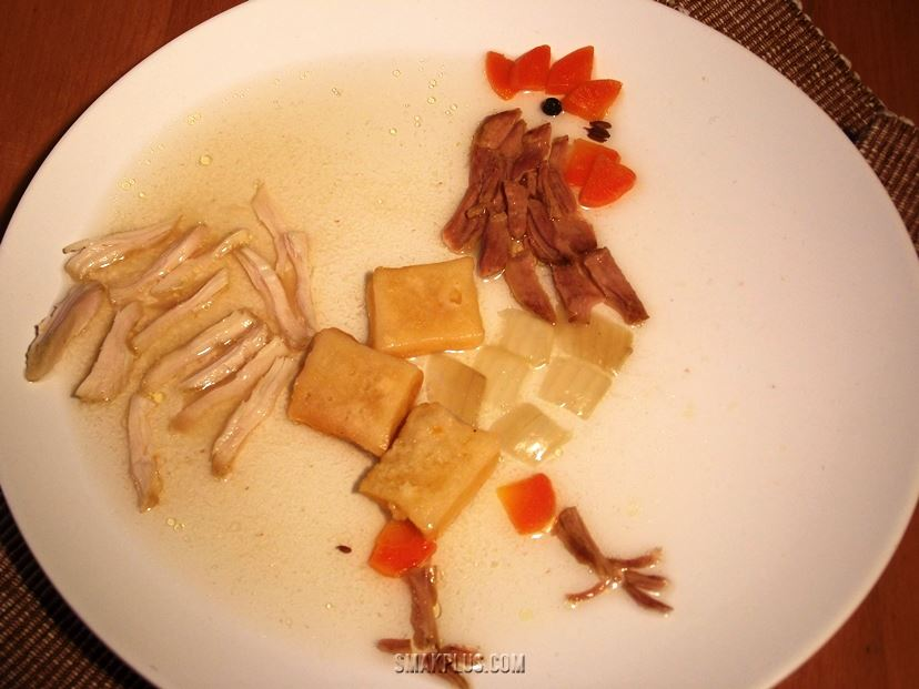 Palenytsia or chicken, pork and homemade bread stew