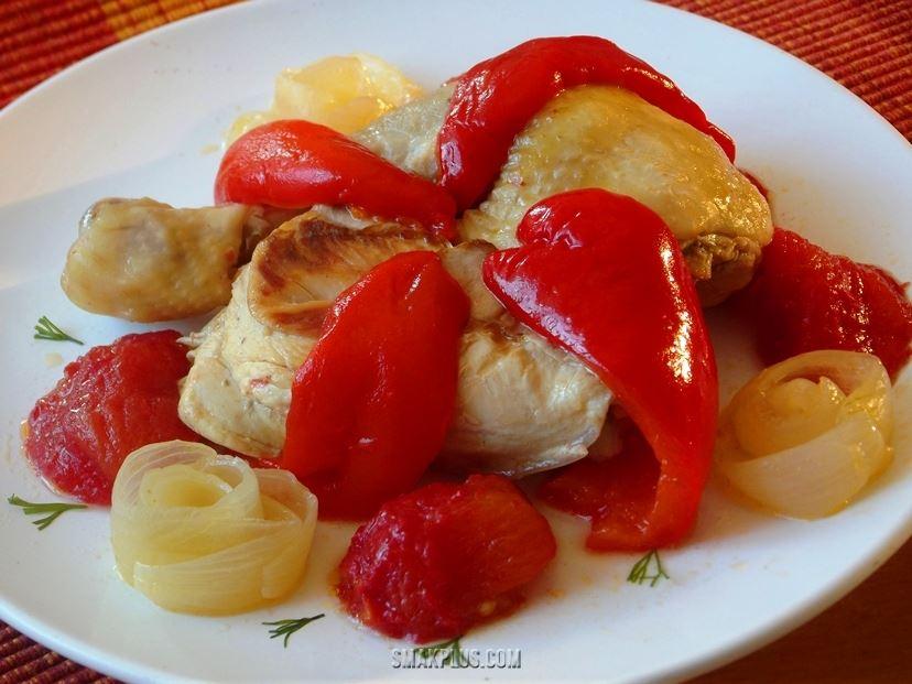 Чахохбілі з курки – смажена курка з солодким перцем