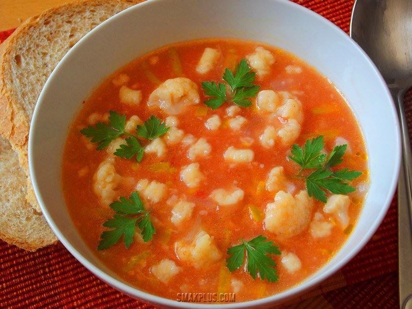 Помідоровий суп чи юшка-затірка (помідорова зупа)