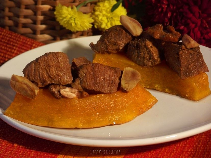 Рецепт яловичини запеченої в гарбузі