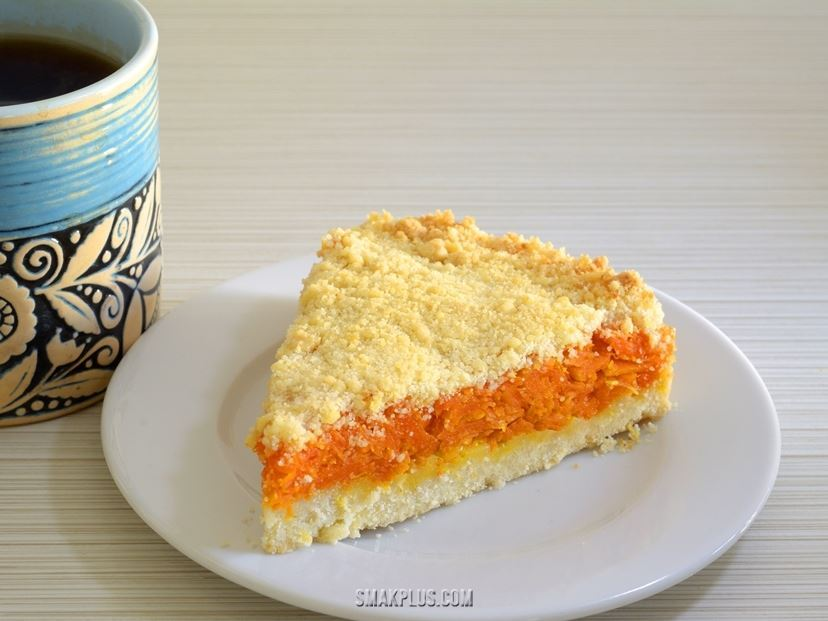 Пісочний пиріг з гарбузово–апельсиновою начинкою